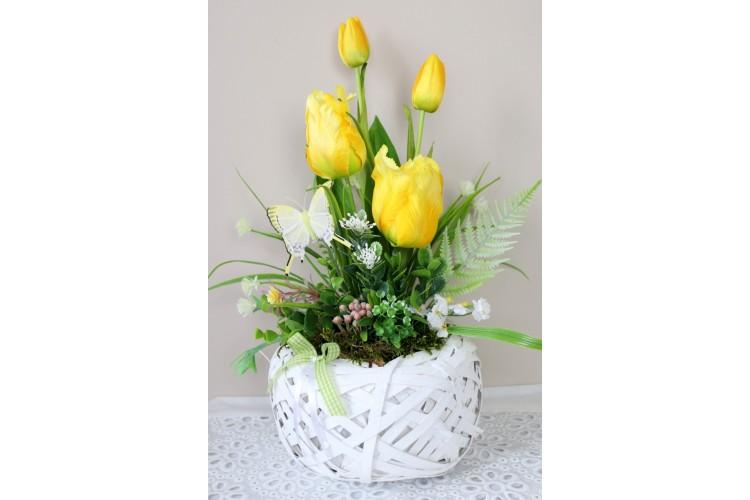 Tulipany z motylkiem 45x33