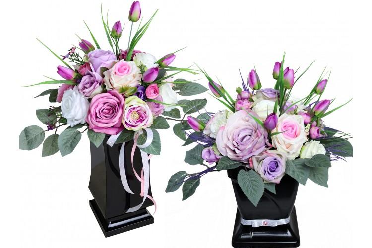 """Flower Box stoik+bukiet """"liliowy"""""""