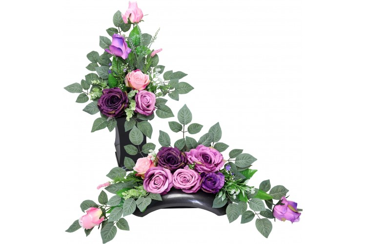 Róża Liliowa stroik + bukiet