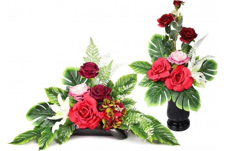 Lilia z Różą stroik + bukiet