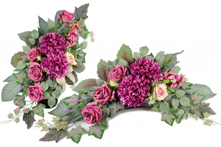 Chyzantema / Róża stroik+bukiet