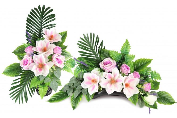 Magnolia Różowa stroik+bukiet
