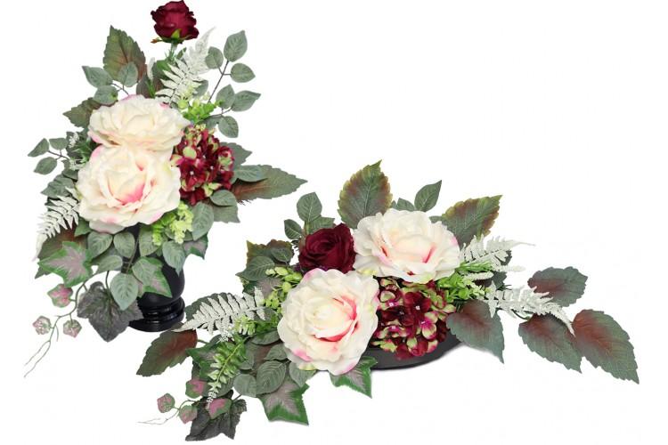 Róża XXL Jasna stroik+bukiet