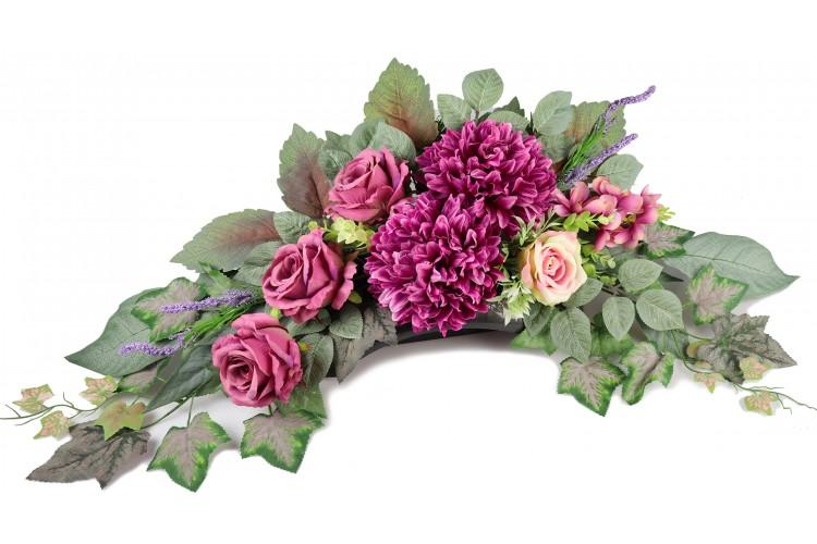 Chyzantema i Róża stroik