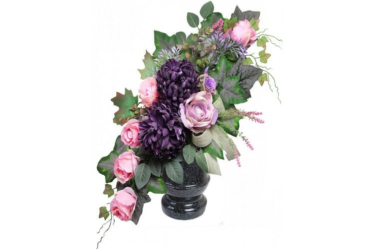 Chryzantema fiolet stonowany bukiet