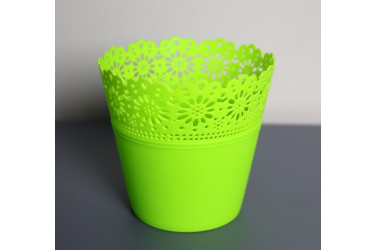 Donica zielona - koronka mini